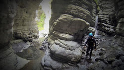 canyoning male vesse aval alpes de ahutes provence  abarouss canyoning