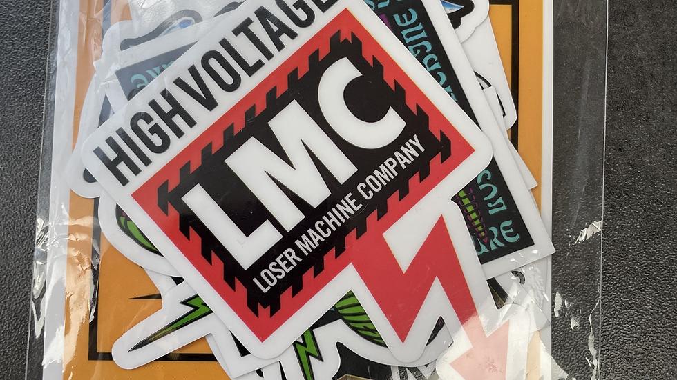 Lot de stickers LOSER MACHINE COMPANY