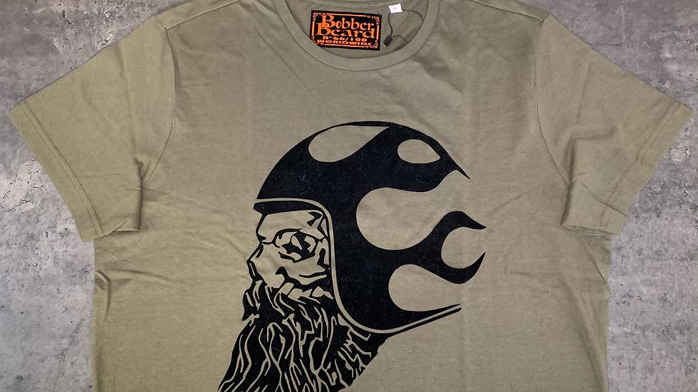 T-shirt Homme Kaki & Noir BOBBERBEARD