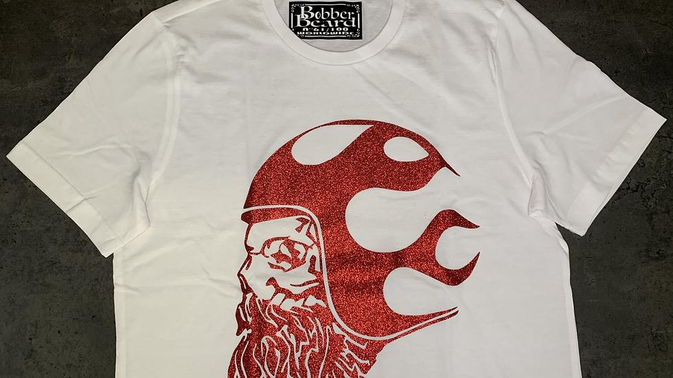 T-shirt Homme Blanc&Rouge BOBBERBEARD