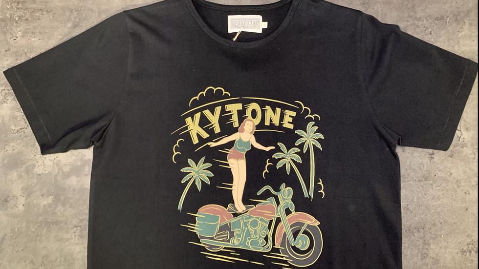 T-shirt KYTONE SURFING mc noir