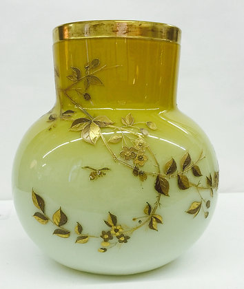Beautiful Antique Vase in Yellow and Gold