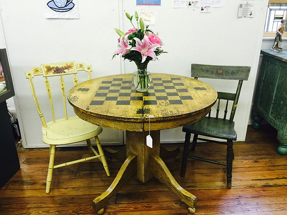 Vintage Oak Repurposed Game Table
