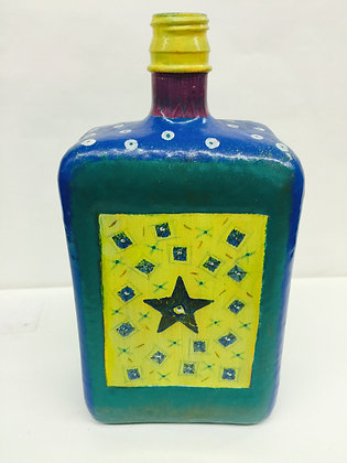 Whimsy beautiful hand painted bottle