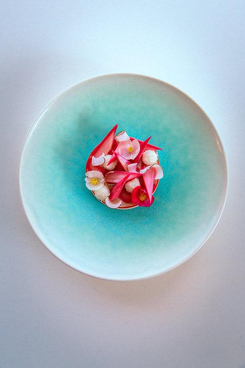 Signature handmade plate, Ice Green | Ryuji IWASAKI