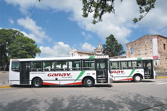 Omnibus Urbano Plaza Alta Gracia Cordoba Patrimonio de la Humanidad