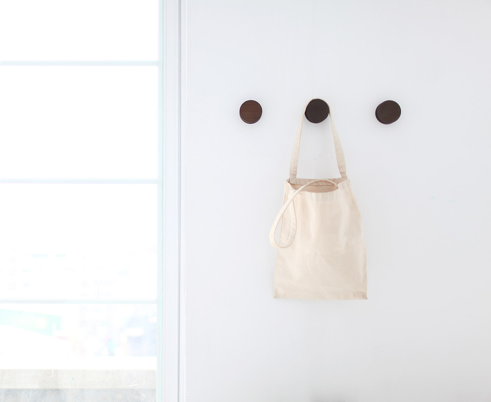 Gudee Blog-Ran hooks canvas bag-Functional Wall Decor