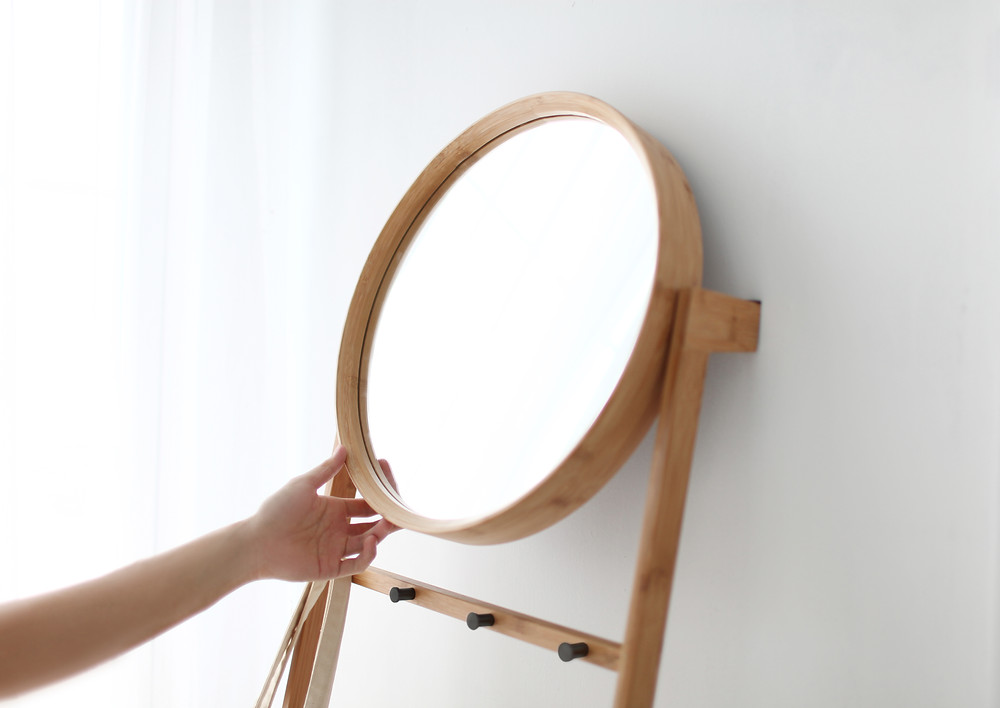 Gudee Blog-Grota leaning rack with mirror-Smart Design for Last-Minute Glimpse at Your Entryway