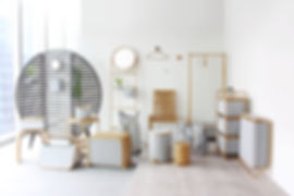 Gudee design collection bamboo home decor furniture storage rack bag