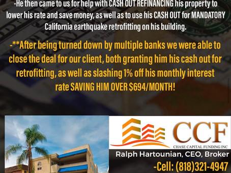COMMERCIAL CASH-OUT REFINANCE