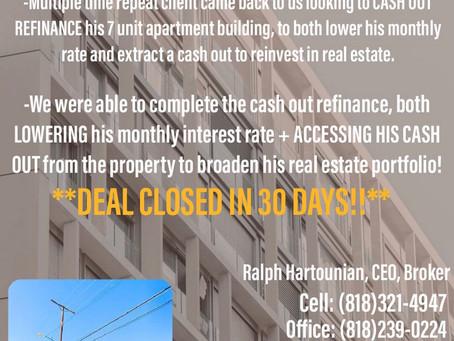 Commercial CASH OUT REFINANCE!