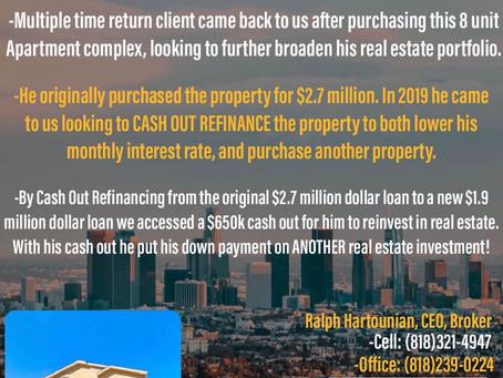 COMMERCIAL CASH OUT REFINANCE