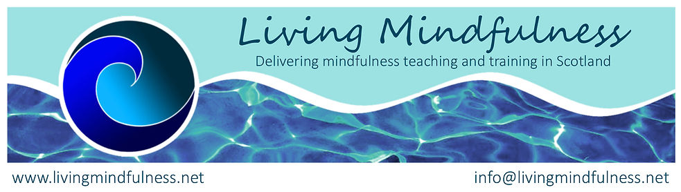 Living Mindfulness Banner with Logo and