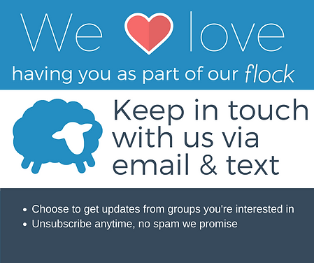 we love having you as part of our flock.
