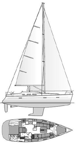 Boat layout for sailing charter