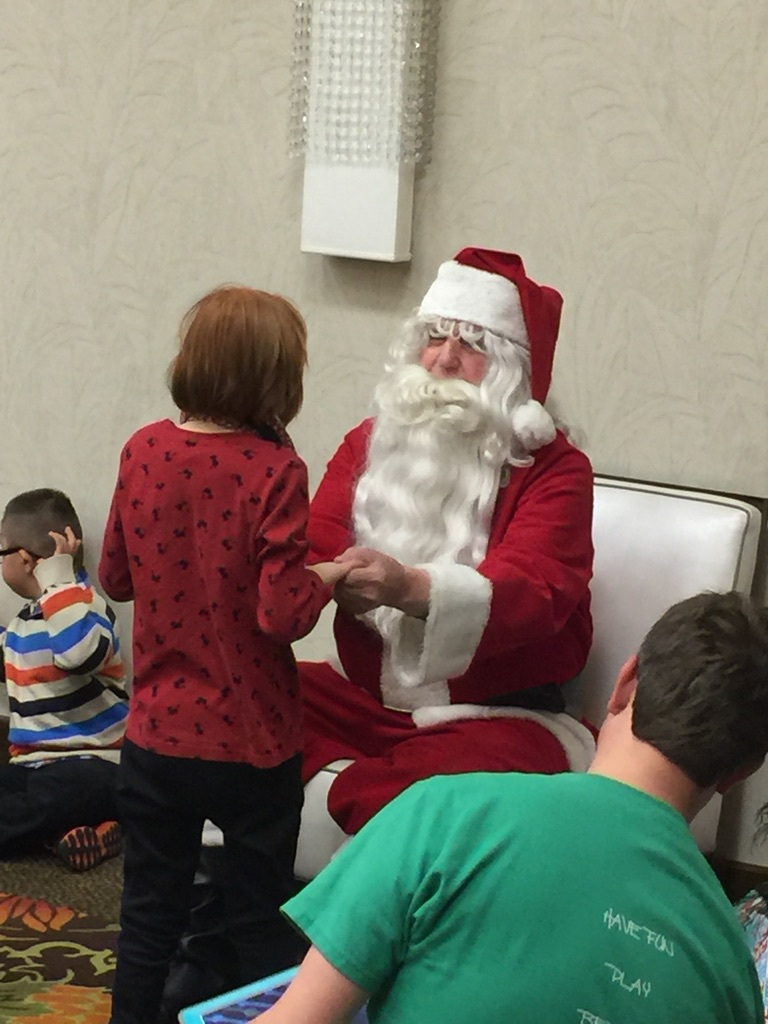 Special Needs Children Meet Santa