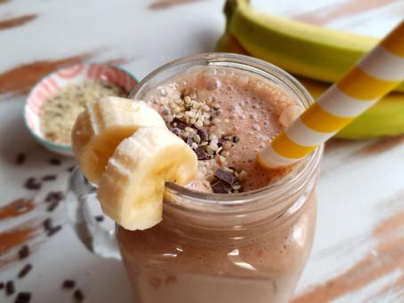 Chocolate and Banana Hemp Smoothie