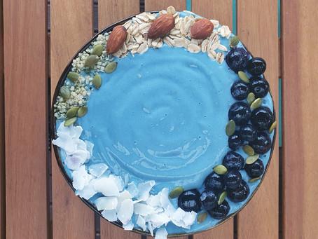 Blue Spirulina & Coconut Hemp Smoothie Bowl