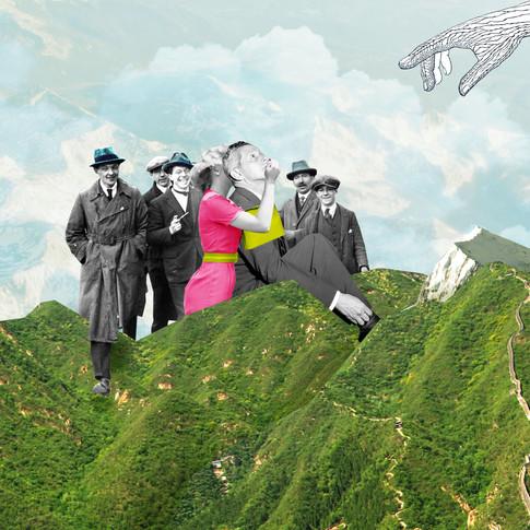 Collage art to the poet Yehezkel Rahamim