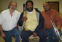 "The Ellington Band trumpet section visits the shop - and we design the new, custom Monette ""sla"