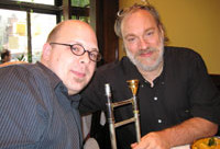 Radical new bass trombone mouthpiece designed for LCJO's Max Seigel