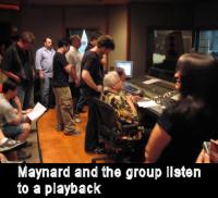 Maynard in the studio