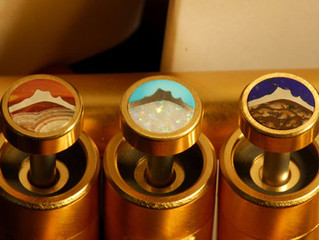 Our Latest Crop of Custom Inlaid Finger Buttons!