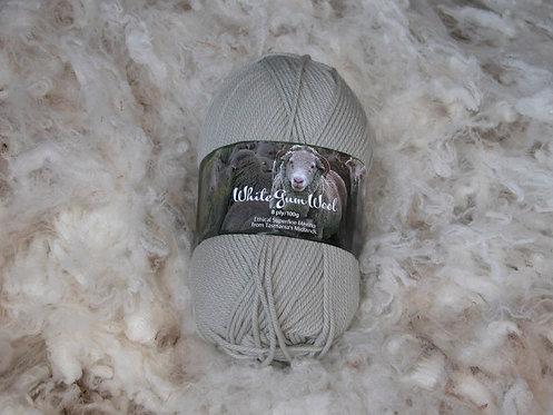 gum grey 8 ply merino white gum wool