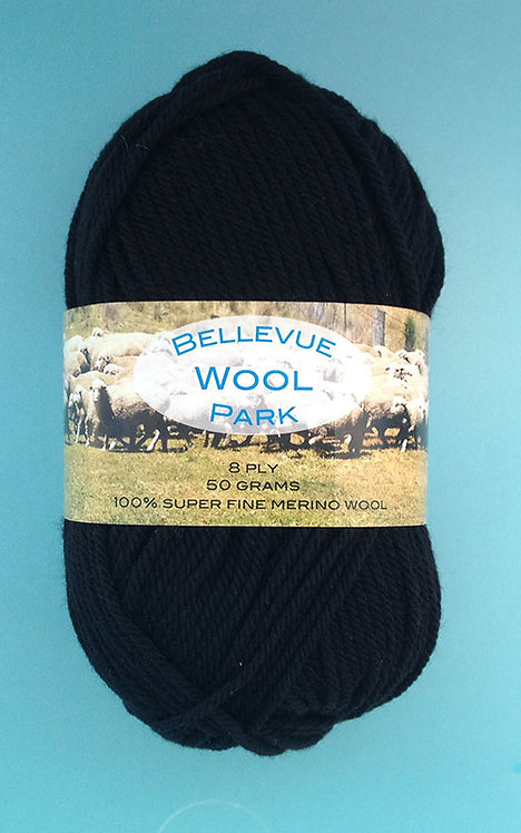 Black—Ultra Fine Merino 8 ply