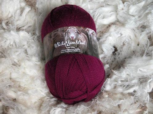 maroon 4 ply merino wool