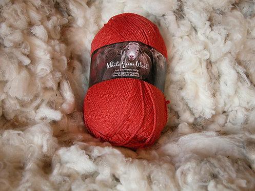 red silk merino 5 ply white gum