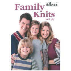 Family Knits in 8 ply by Panda