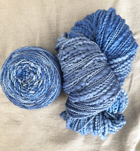 Denim—Merino Slub 12 ply 100g