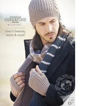 men's beanie, mitts & scarf