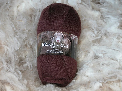 dark brown 4 ply merino wool