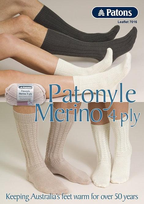 Patonyle Merino 4 Ply Socks