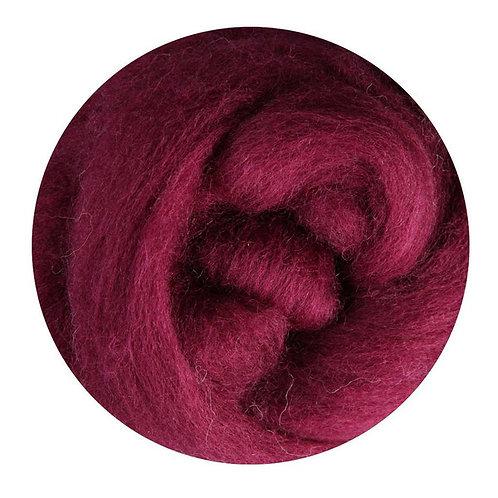 raspberry—Ashford Merino slivers