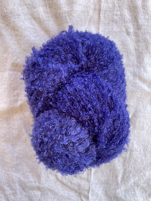 Purple Boucle Mohair 12 ply—Mollydale Yarns