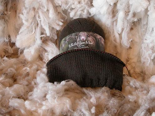 brown 8 ply merino white gum wool