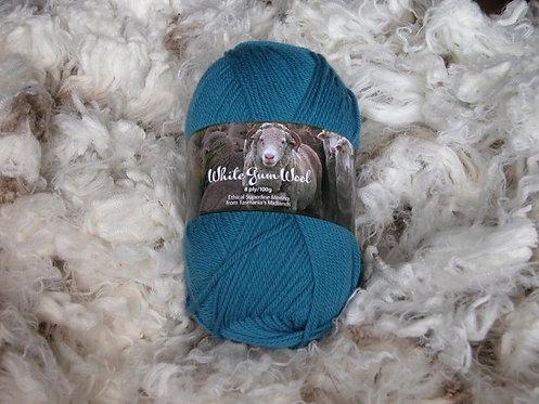 fairy wren blue 8 ply merino white gum wool