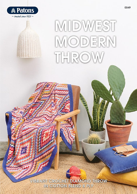 Midwest Modern Throw 0049—Patons