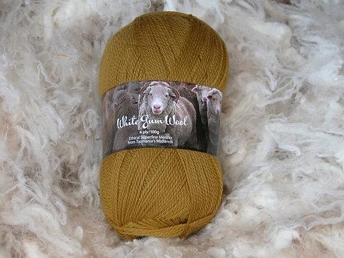 mustard 4 ply merino wool