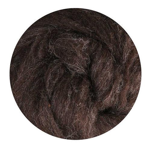 dark natural—Ashford Merino slivers