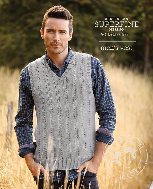 Men's Vest by Cleckheaton Pattern 463