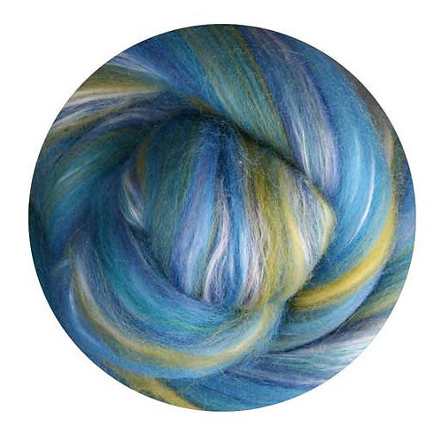 salvia—Ashford Silk/Merino slivers