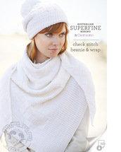check stitch beanie & wrap by Cleckheaton pattern