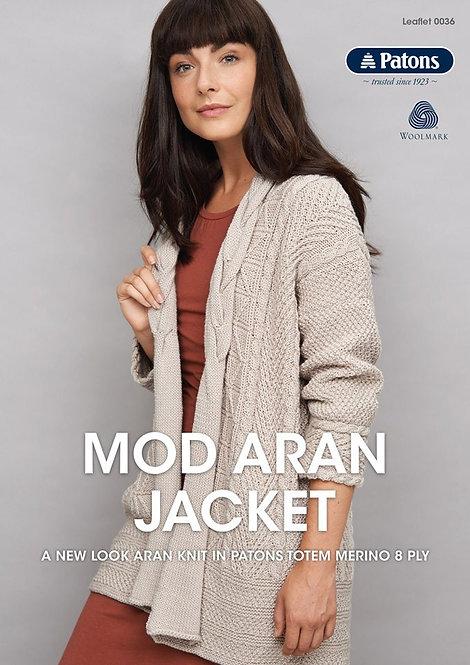 Mod Aran Jacket 0036 by Patons