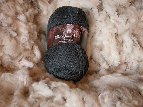 grey silk merino 5 ply white gum wool