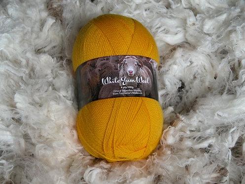 yellow 4 ply merino wool
