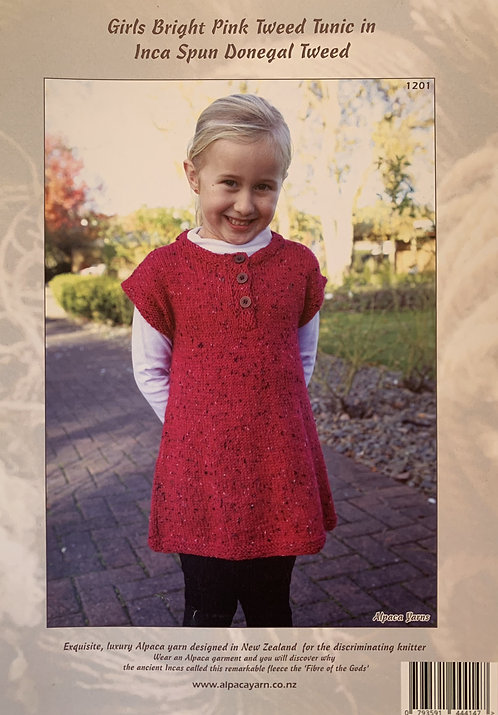 Girls Tweed Tunic - Alpaca Yarns 1201